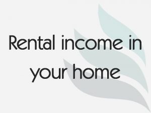 Rental income in your home